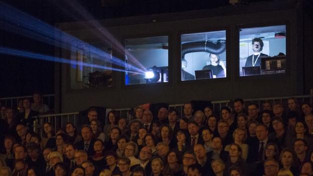 Projektionsraum der Solothurner Filmtage.