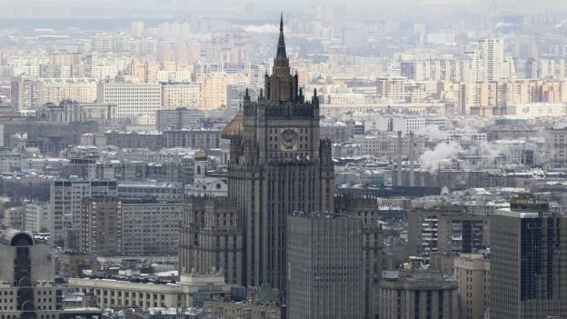 Stadtansicht Vogelperspektive von Moskau