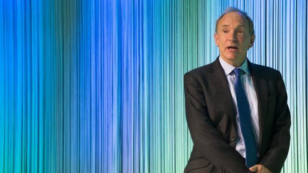 Tim Berners-Lee während einer Rede.