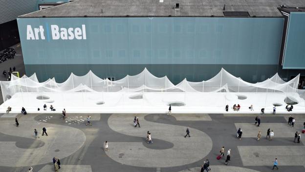 Das Gelände der Art Basel 2014