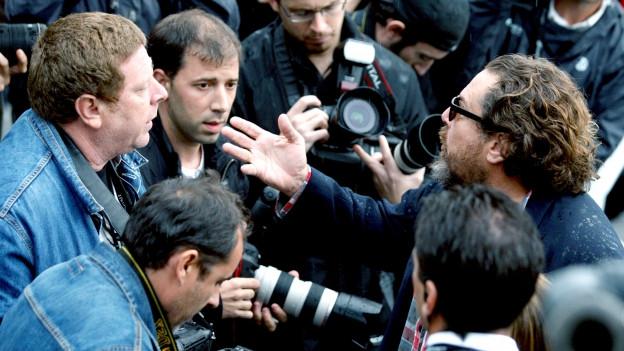 Fotografen bei einem Filmfestival in San Sebastian 2007.