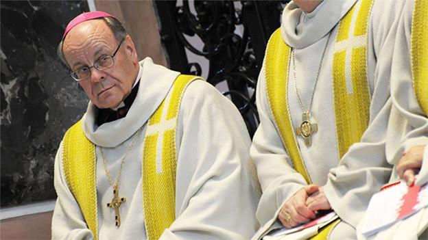 Der Bischof von Chur, Vitus Huonder, im Kloster Einsiedeln, 2013.