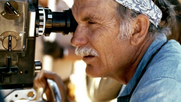 Sam Peckinpah beim Filmdreh von «The Ballad of Cable Hogue», 1970.