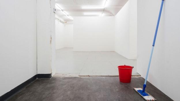 Die leerstehenden Räume der Photobastei eine knappe Woche vor der Eröffnung.