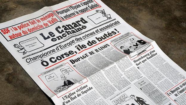 Titelblatt des Canard Enchainé.
