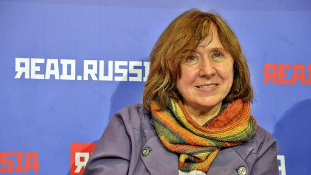 Farbiges Porträt von Swetlana Alexijewitsch