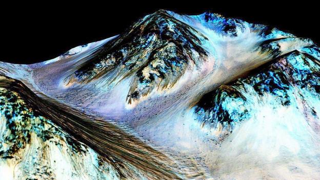 Bild aus der Vogelperspektive auf den Mars.