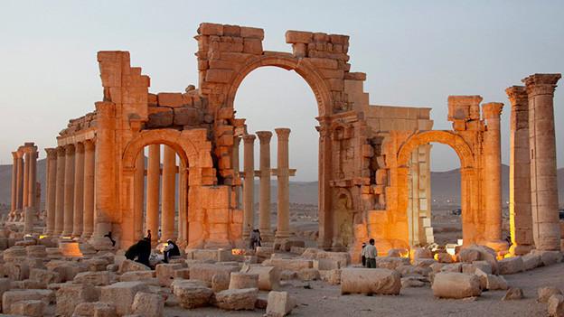 Die amtike Stätte von Palmyra im Jahr 2010, vor den Zerstörungen durch die IS.