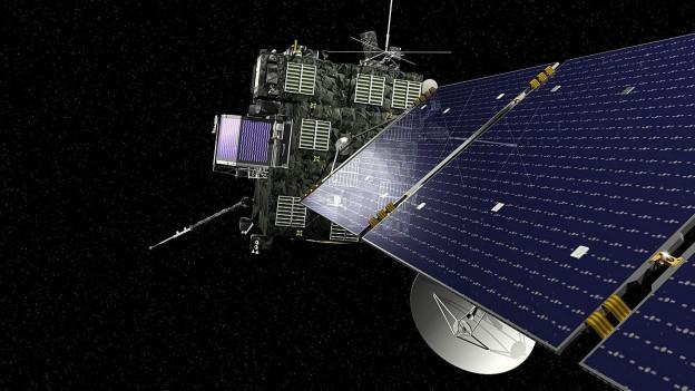 Raumsonde Rosetta im Weltall.