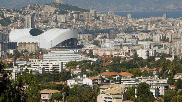 Blick auf Marseille aus der Vogelsperspektive.