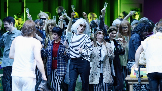 Szene aus dem Stück Musiktheater «Hamletmaschine».