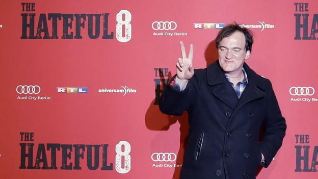 Quentin Tarantino auf dem roten Teppich.