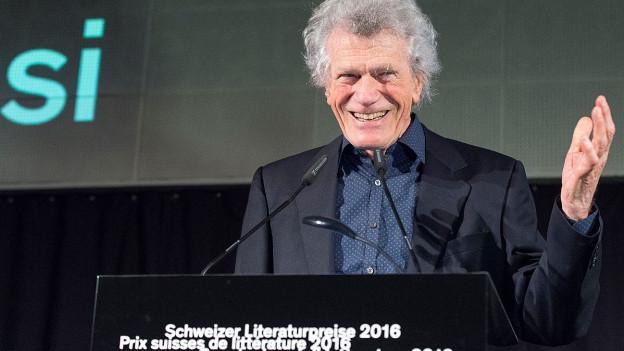 Alberto Nessi bei der Preisübergabe.