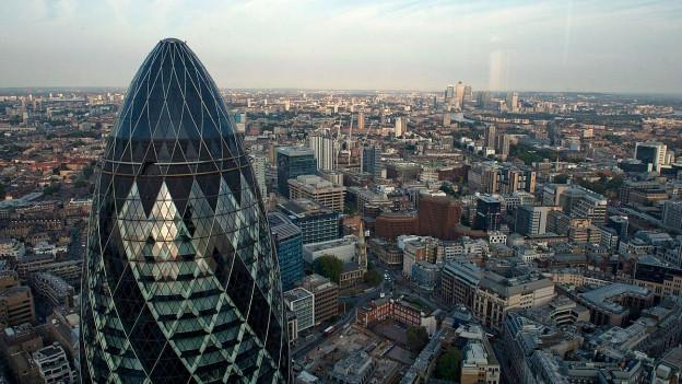 Blick aus der Vogelperspektive auf London