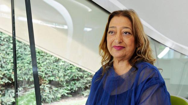 Portrait der Architektin Zaha Hadid.