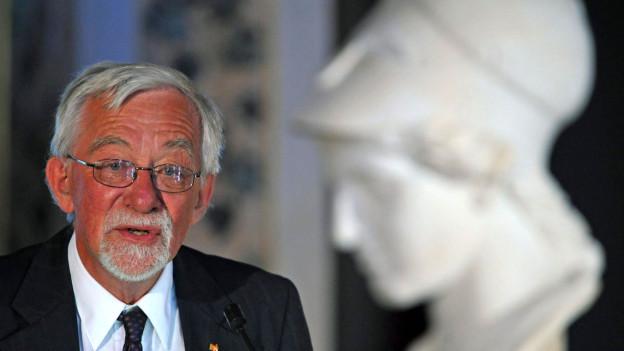Lars Gustafsson im Jahre 2009 in Weimar.