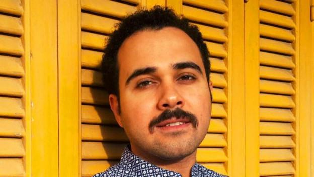 Porträt des ägyptischen Autors Ahmed Naji