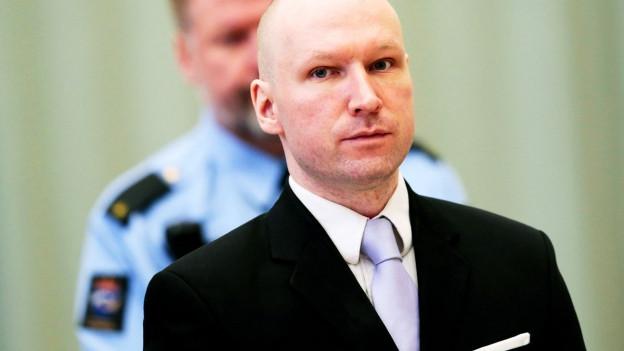 Der Massenmörder Anders Breivik vor Gericht.