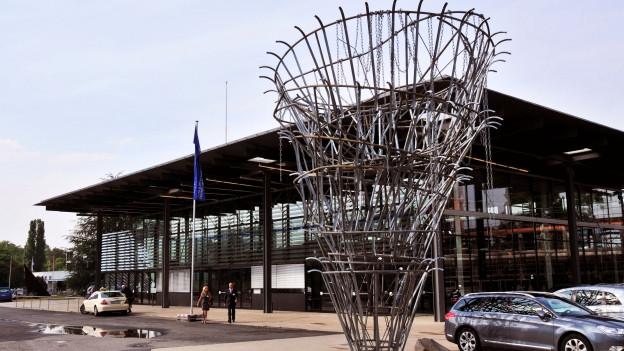 Bundeshaus in Bonn, wo früher der Bundestag tagte.