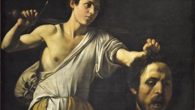 Caravaggio: «David mit dem Haupt des Goliath» (1605).