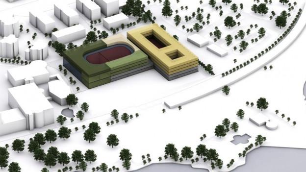 Ein Modell des geplanten Projekts.