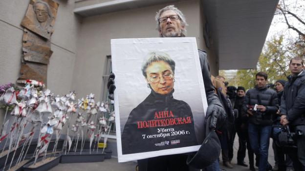 Sie war eine unermüdliche Kritikerin: die russische Journalistin Anna Politkovskaya.