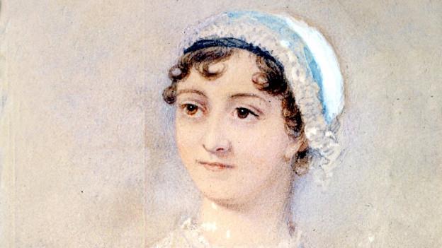 Porträt der Autorin Jane Austen.