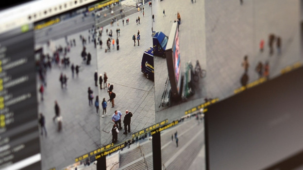 Bildschirme: Videoüberwachung der Silvesternacht in Köln