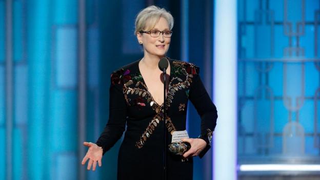 Meryl Streep an den Golden Globes.