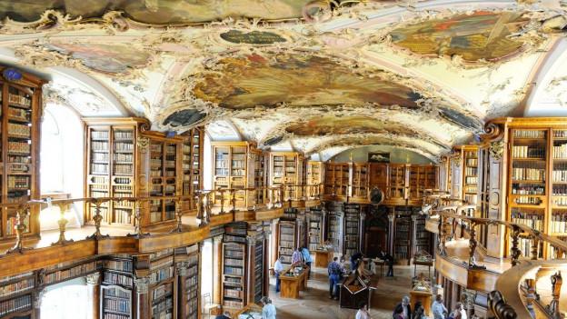 Saal der Stiftsbibliothek St. Gallen