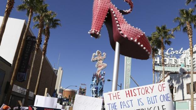 «Women's March»: Frauen protestieren gegen den neuen US-Präsidenten.