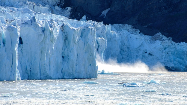 Gletscher in Spitzbergen, Norwegen