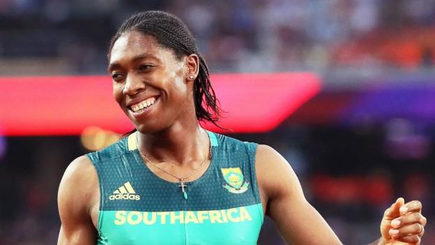 Die südafrikanische Leichtathletin Caster Semenya