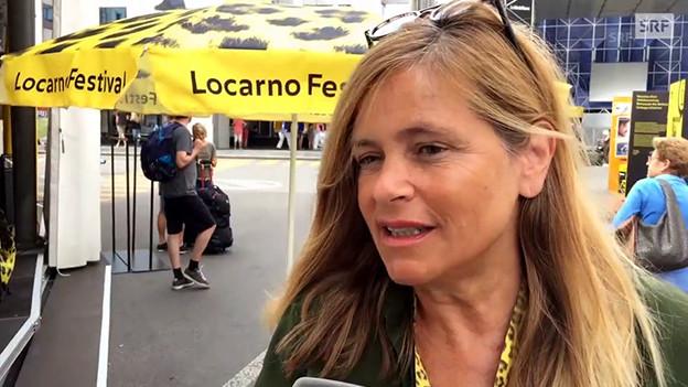 Regisseurin Sabine Gisiger am Locarno Festival 2017.