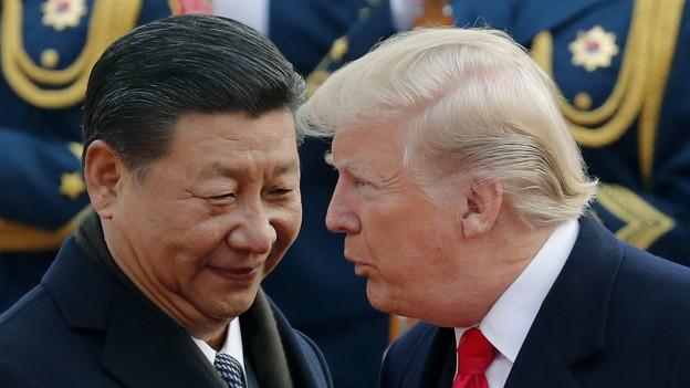Donald Trump bei seinem Chinabesuch 2017.