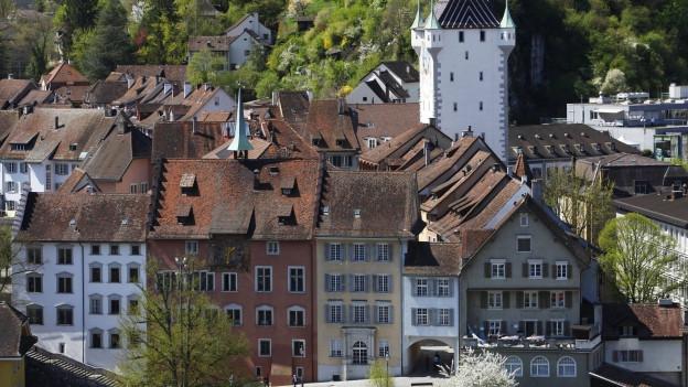 Historischer Stadtkern mit Kirchturm