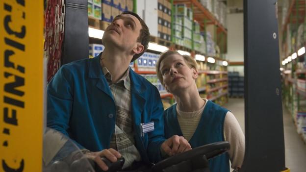Die zwei Schauspieler Franz Rogowski und Sandra Hüller