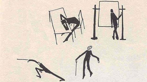 Franz Kafkas Zeichnungen, wie sie in Eugene Jolas' Avantgarde-Zeitschrift «transition» 1938 veröffentlicht wurden.
