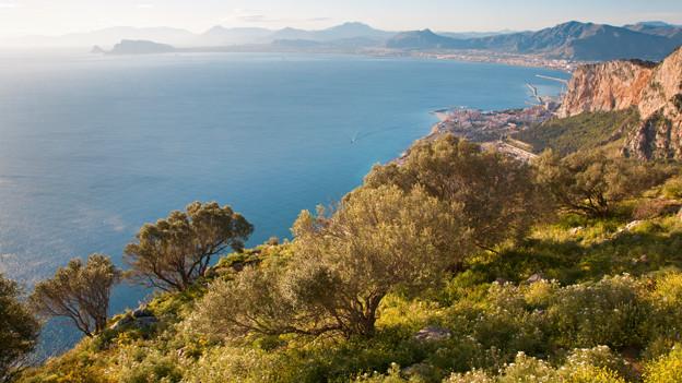 Die Bucht von Palermo auf Sizilien