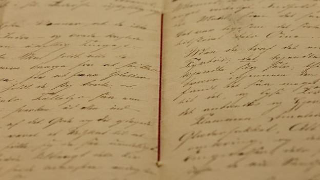 Ein Manuskript von Hans Christian Andersen.