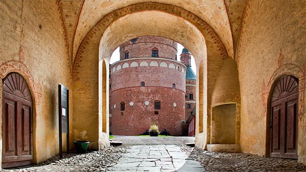 Der Eingang zum Schloss Gripsholm.