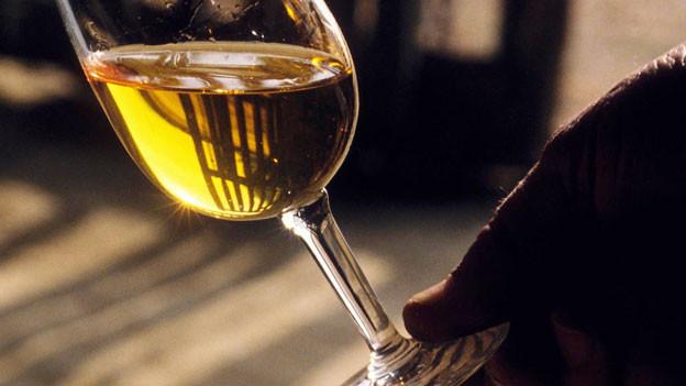 Ein Glas Weisswein.