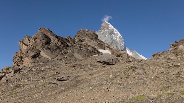 Blick auf eine Bergspitze