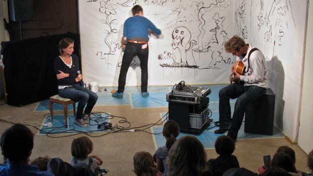 Ein Kinderkonzert im Mullbau Luzern.