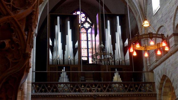 Die Orgel im Basler Münster.