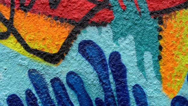 Ausschnitt aus einem abstrakten Graffiti