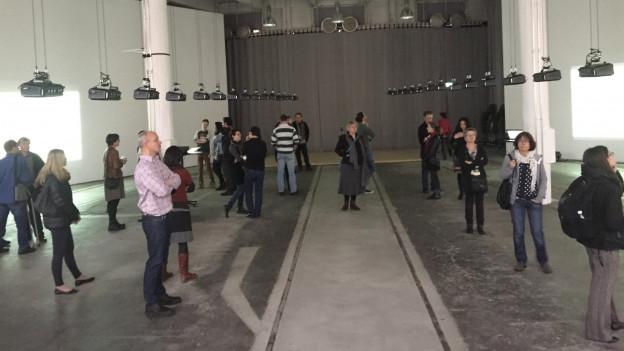 Besucher eines Workshops.