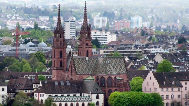 Stadtansicht mit Basler Münster.