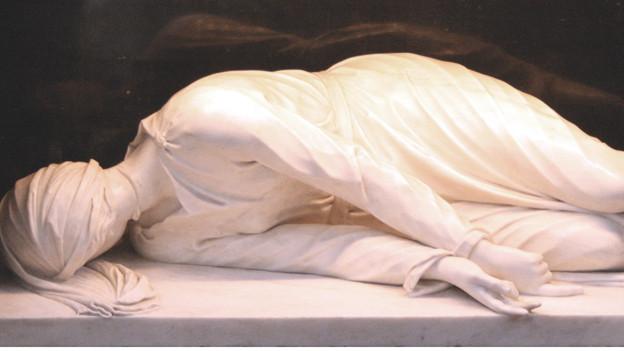 Die Statue der heiligen Cäcilia in Rom.