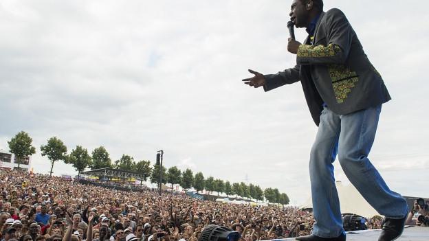 Youssou N'Dour am Paléo 2014.